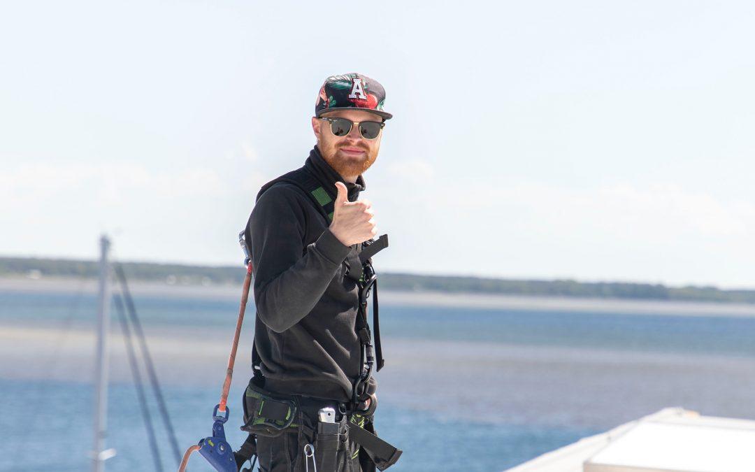 Axel på Hagmans Tak Syd är inte rädd för höga höjder