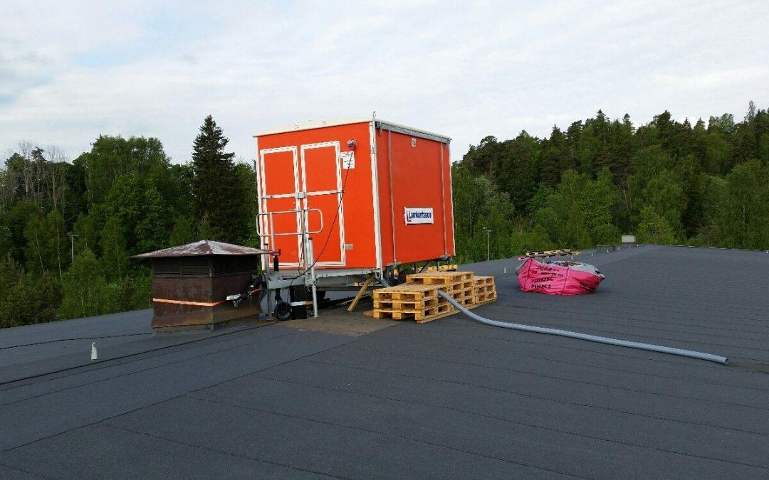 Supereffektiv takomläggning i Åkers styckebruk