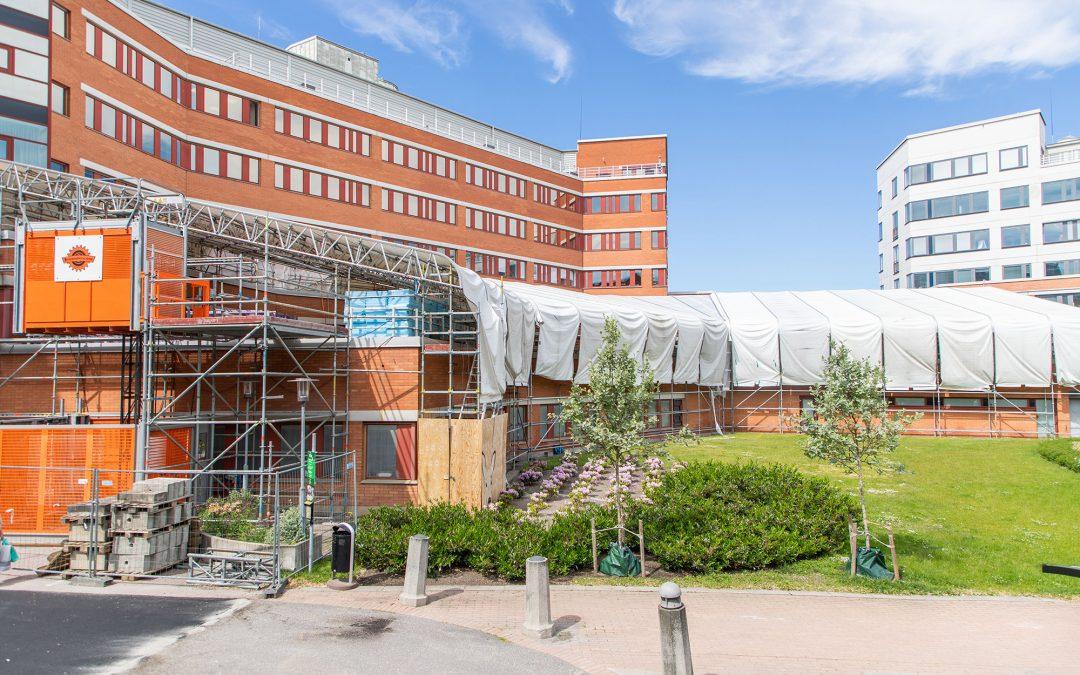 Hagmans Tak är totalentreprenör vid renovering av omfattande takterrass
